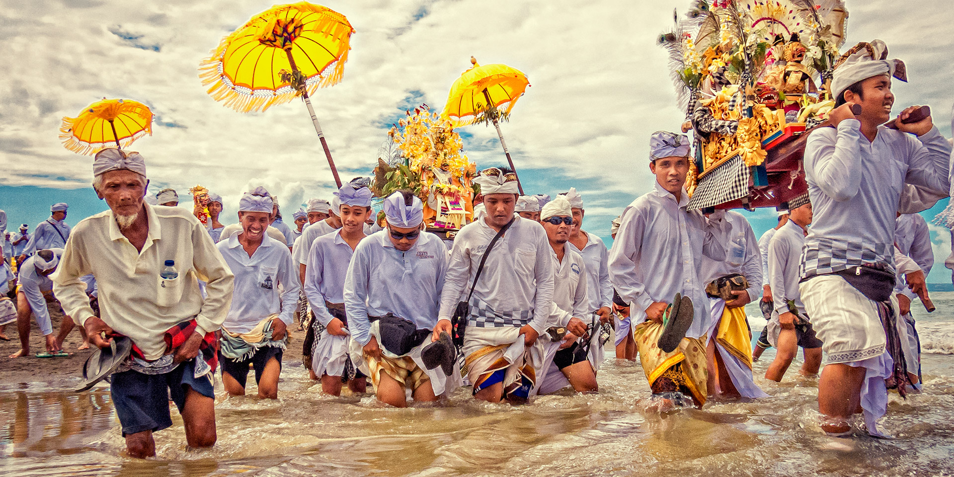 Melasti Celebrations in Bali
