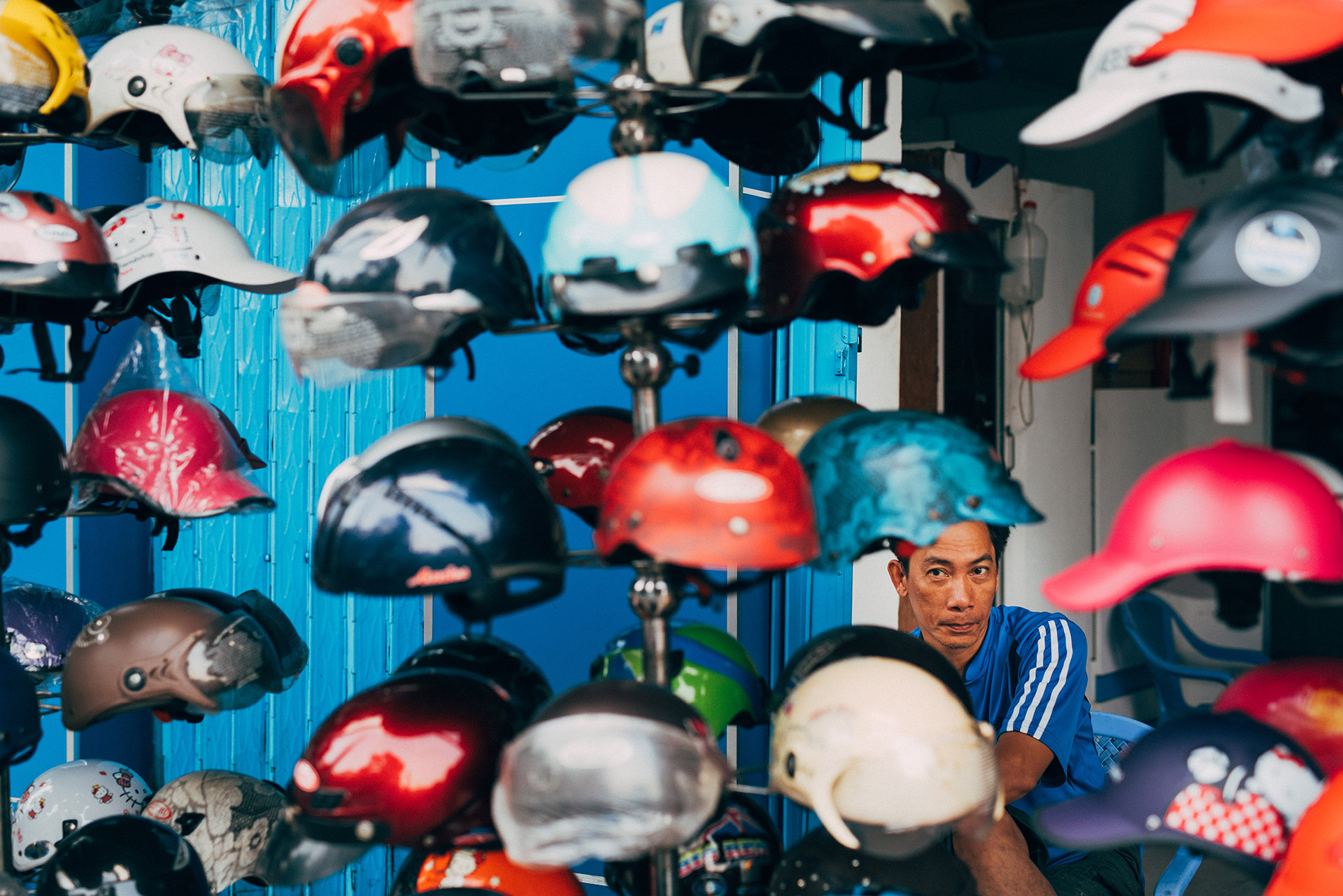 Helmet seller Saigon by DOMINIK