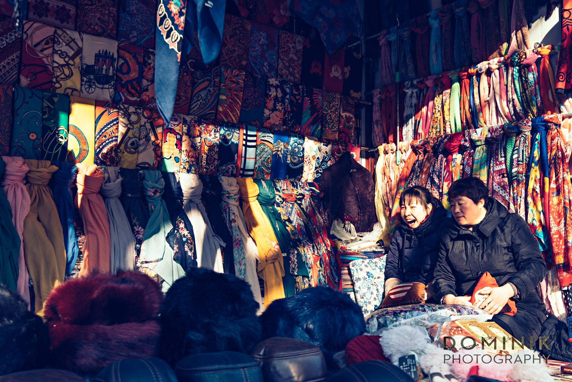 Dominik photographs in Dalian China