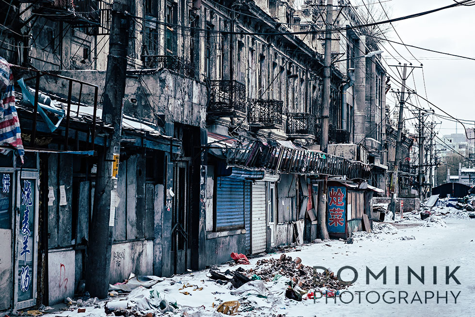 Dilapidated old city in Harbin photographed with a Helios 44-2 lens