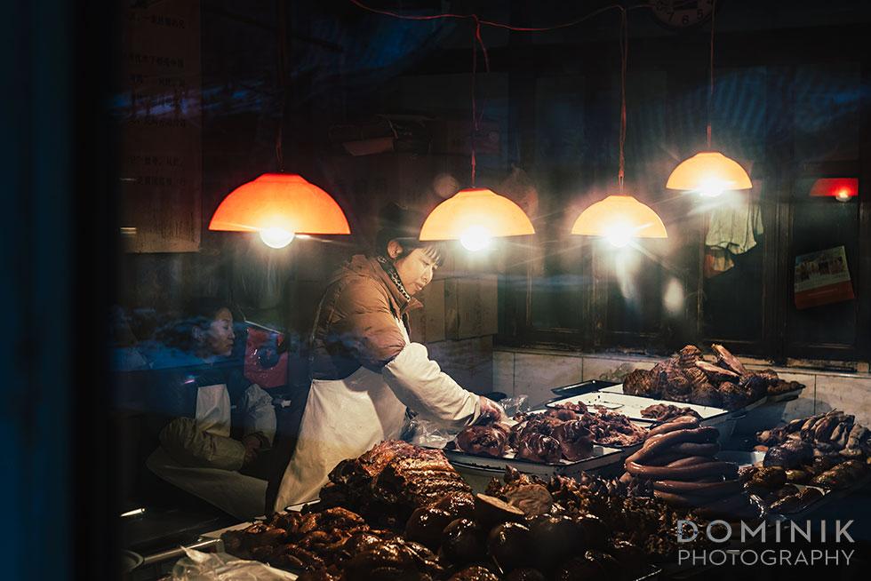 meat mongers in old city Harbin