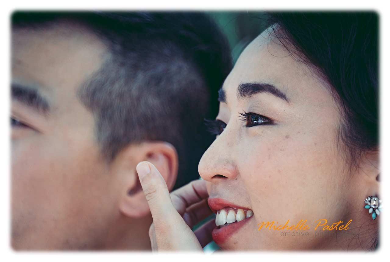 Pre Wedding street portrait with 500 mm mirror lens