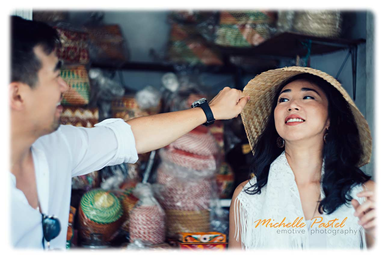 Professional portrait photography with vintage lens in Bali